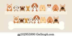 Small Size Dog Clip Art - Royalty Free - GoGraph