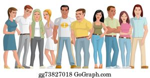 drawing group of young people clipart drawing gg73932993 gograph rh gograph com young adults clipart Young People Dancing