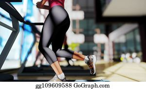 women on gym fitness exercise machines stock illustrations