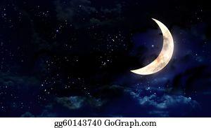 half moon stock illustrations  royalty free  gograph