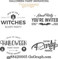 eps vector halloween 2016 party invitation label templates with