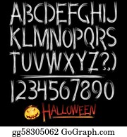 Scary Font Clip Art - Royalty Free - GoGraph