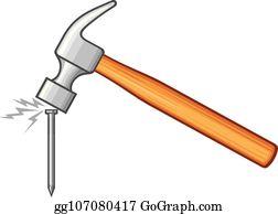 Hammer Nail Clip Art , Royalty Free , GoGraph