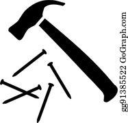 hammer nails clip art royalty free gograph hammer nails clip art royalty free