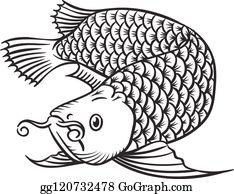 Asian Arowana Clip Art - Royalty Free - GoGraph
