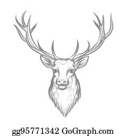 Browning Deer Head Clipart Black And White Browning Buck And Doe Heart  Image Provided - EpiCentro Festival