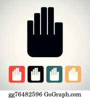 Hand Stop Clip Art - Royalty Free - GoGraph