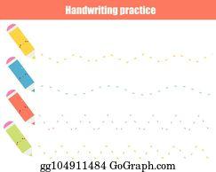 Vector Clipart - Handwriting practice sheet  educational