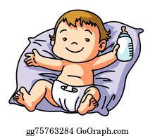 Baby happy. Clip art royalty free
