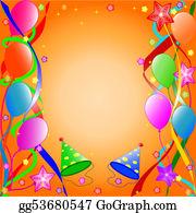 stock illustration happy birthday background clipart