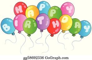 Birthday Balloons Clip Art Royalty Free Gograph