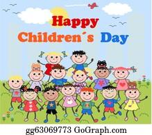 Happy childrens day scene - Download Free Vectors, Clipart Graphics &  Vector Art
