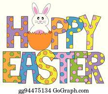 Cute Easter Bunny Clip Art Cards
