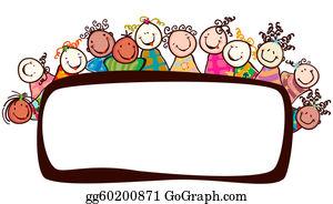 stock illustration happy kids clipart drawing gg55070805 gograph rh gograph com Happy People Clip Art Happy Dance Clip Art
