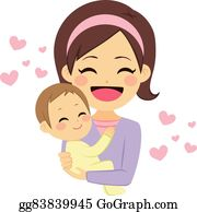 Mother Hugging Baby Clip Art Royalty Free Gograph