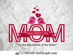 Happy Mothers Day Greeting Card Design For Your Mom On Wall Text