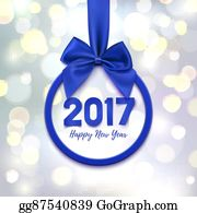 Eps Vector Happy New Year 2016 Round Banner Stock Clipart