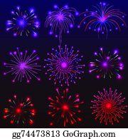 Fireworks Happy New Year 2016 Clip Art