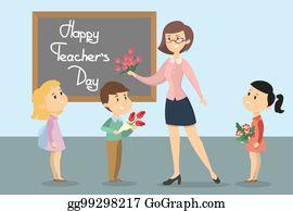Happy Teachers Day Clip Art - Royalty Free - GoGraph