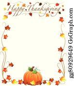 Thanksgiving Border Clip Art Royalty Free Gograph