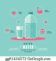 vector stock benefits of drinking water infographic clipart