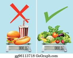 Healthy Food Clip Art - Royalty Free - GoGraph