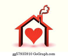 Admirable House Heart Clip Art Royalty Free Gograph Home Remodeling Inspirations Genioncuboardxyz