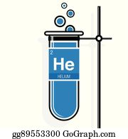 Vector clipart fluorine symbol on label in a magenta test tube element number 29 of the periodic table of the elements chemistry helium symbol on label in a blue test tube with holder element number 2 of urtaz Image collections