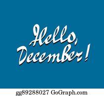 Hello December Clip Art - Royalty Free - GoGraph