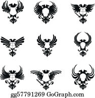 Heraldic Eagle Double Head Set