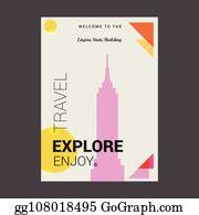 Clip Art: Empire State Building Color I abcteach.com   abcteach