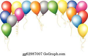 Balloon Border Clip Art Royalty Free Gograph