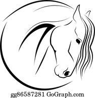 Horse Head Clip Art - Royalty Free - GoGraph