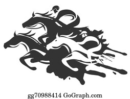 Fobc - Race Night - Cartoon Horse And Jockey - Free Transparent PNG Clipart  Images Download