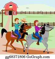 Horseback Riding Cartoon Clip Art Royalty Free Gograph