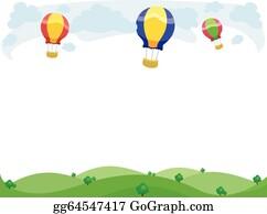Eps Illustration Hot Air Balloon Frame Vector Clipart Gg86522254