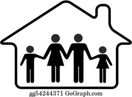Family House Clip Art Royalty Free Gograph