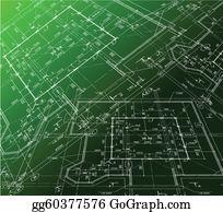 Vector stock house plan vector blueprint clipart illustration vector house plan on green background vector blueprint malvernweather Images