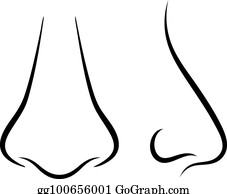 Human Nose Clip Art - Royalty Free - GoGraph