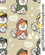 BOUIA Sac /à Cordon Seamless Pattern Cartoon Funny Samoyed Dogs Yellow Cute Puppies Snow Trendy Perfect Kids