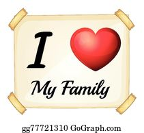 I Love My Family Clip Art Royalty Free Gograph