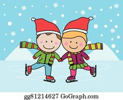 Free Clipart Kids Ice Skating | Free Images at Clker.com - vector clip art  online, royalty free & public domain