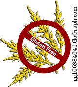 Royalty Free Gluten Intolerance Clip Art - GoGraph
