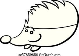 vektorstock - igel, karikatur, abbildung. stock-clipart