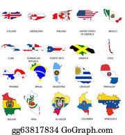 Drawing Country Outline With The Flag Of Chile Clipart Drawing - Country outlines