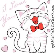 Cat cute. Clip art royalty free
