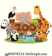 Zoo Animals Clip Art Royalty Free GoGraph