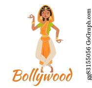 Indian dance clipart - Clipground |Bollywood Dancer Clipart