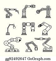 Robot Arm Clip Art - Royalty Free - GoGraph