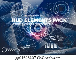 Infographic Elements. Futuristic User Interface HUD UI UX. Abstract  Background With Connecting Dots And
